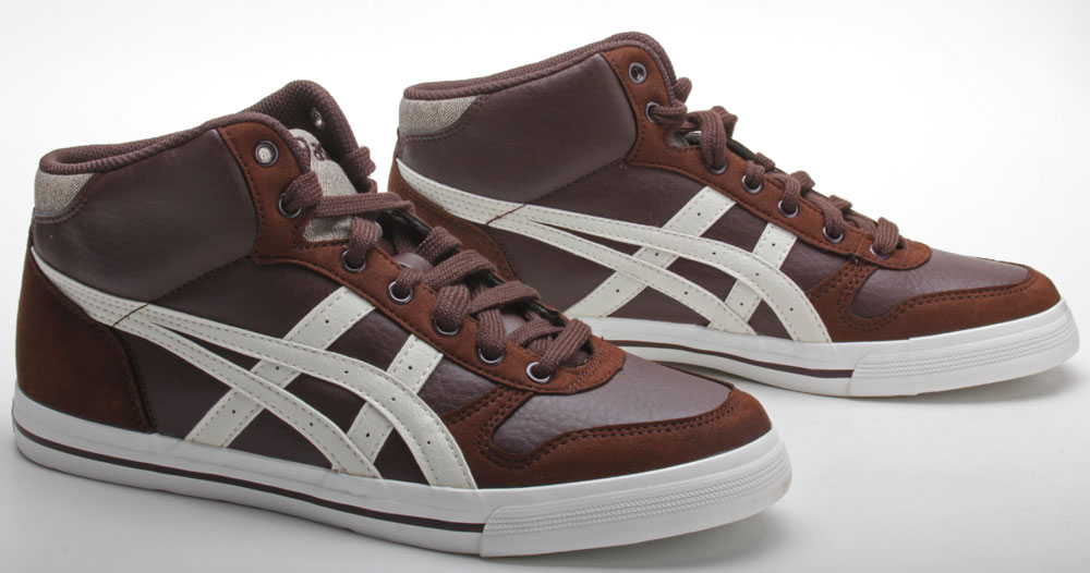asics schuhe aaron mt h930y 6112 seal brown off white. Black Bedroom Furniture Sets. Home Design Ideas