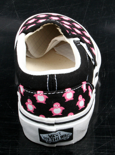 details about vans kinderschuh slip on pink penguins schwarz pink r. Black Bedroom Furniture Sets. Home Design Ideas