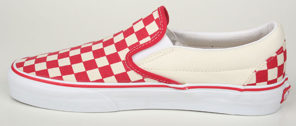vans schuhe classic slip on checkerboard rot weiss ebay. Black Bedroom Furniture Sets. Home Design Ideas